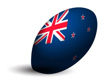 New Zealand rugby ball icon Illustration