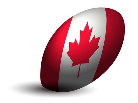 Canadian rugby ball icon