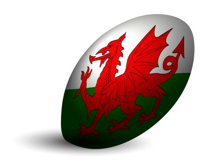 Welsh rugby ball icon