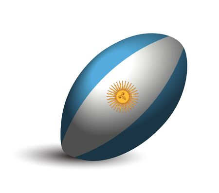 Argentina rugby ball icon