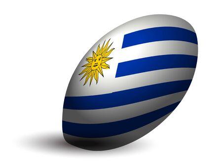 Uruguay rugby ball icon Ilustração