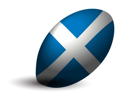 Scotland rugby ball icon Illustration