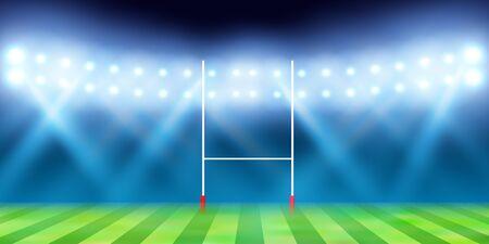 Rugby sport night game grand 写真素材 - 126030760