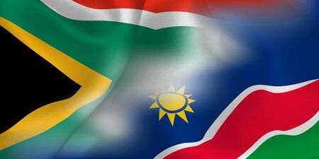 Rugby national flag South Africa Namibia
