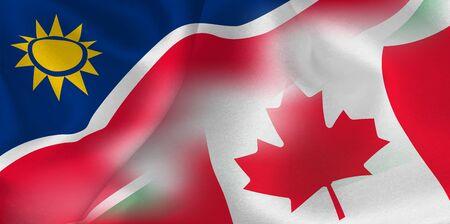 national flag rugby Namibia Canada Illustration