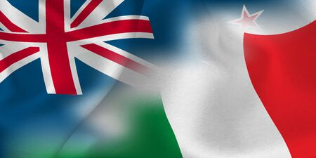 national flag rugby New Zealand Italy