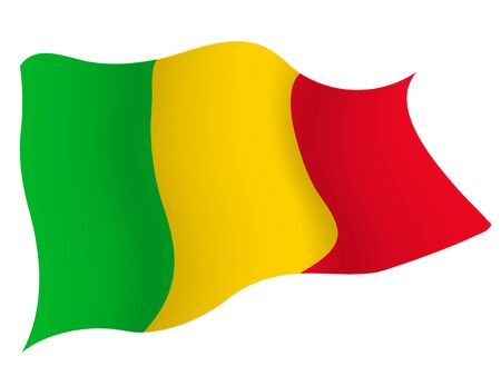 Country flag icon Mali Illustration