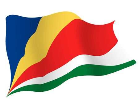 Country flag icon Seychelles Иллюстрация