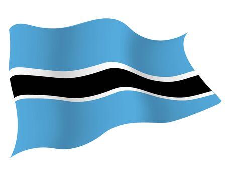 Country flag icon Botswana Illustration