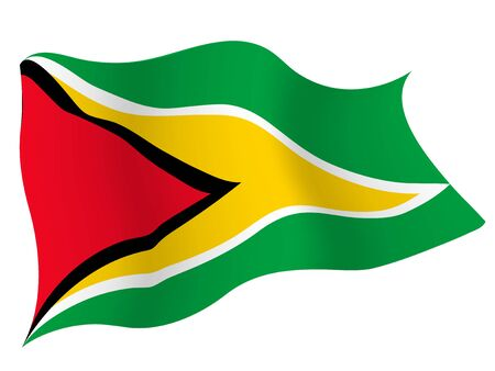 Country flag icon Guyana Illustration