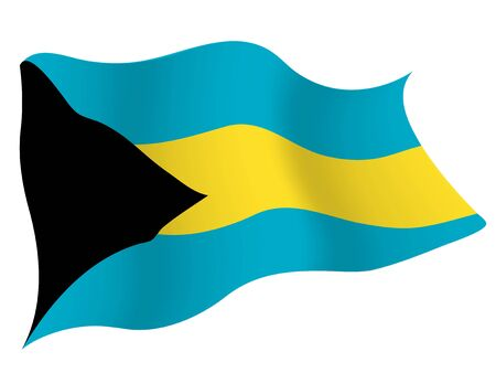 Country flag icon Bahamas Ilustrace