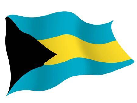Country flag icon Bahamas Illustration
