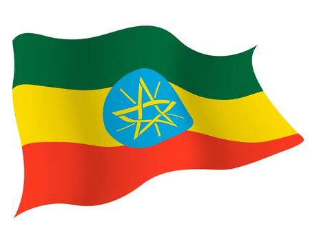 Country flag icon Ethiopia Banque d'images - 127475221