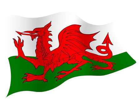 Country flag icon Wales Иллюстрация