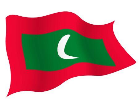 Country flag icon Maldives 向量圖像