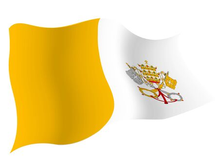 Country flag icon Vatican Stock Illustratie