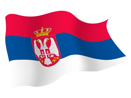Country flag icon Serbia Imagens - 127786018