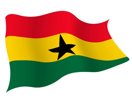 Country flag icon Ghana 일러스트