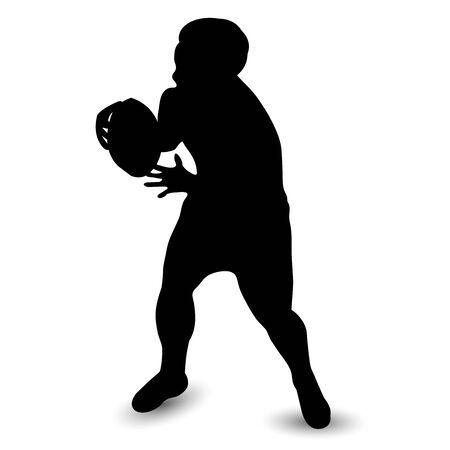 Rugby sport person silhouette