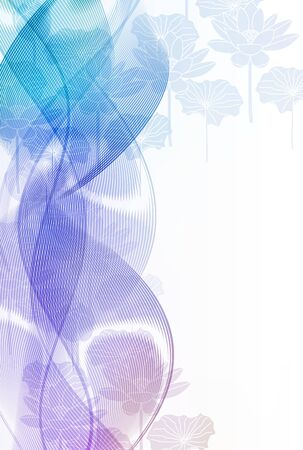 Lotus mourning Japanese paper background