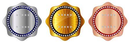 Icône de ruban de médaille d'or
