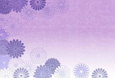 Chrysanthemum mourning Japanese paper background Ilustração