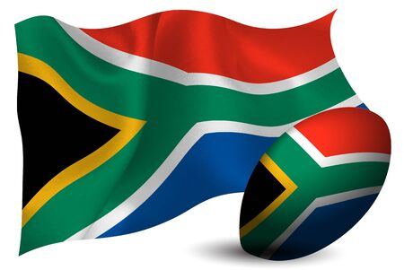 South Africa rugby ball national flag