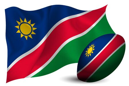 Namibia rugby ball national flag