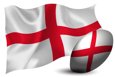 England rugby ball national flag