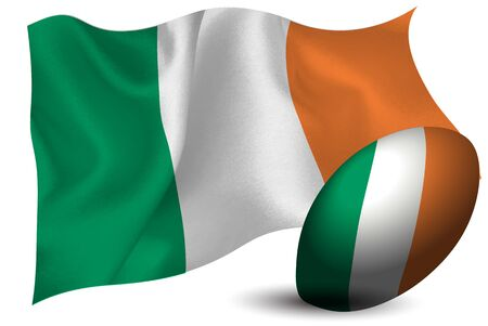 Ireland Rugby ball national flag