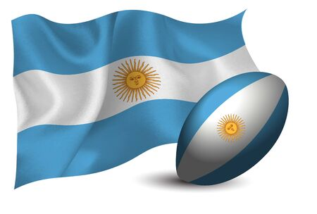 Argentina rugby ball national flag