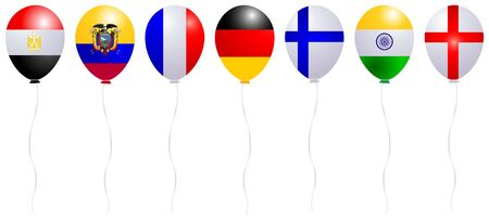 Balloons Flag World Icon Illustration