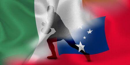 Ireland Samoa rugby flag  イラスト・ベクター素材