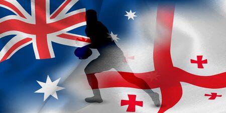 Australia Georgia Rugby Flag