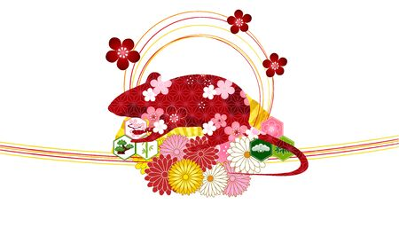 mouse New years card Flower icon Illustration