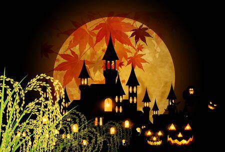 Halloween autumn pumpkin background