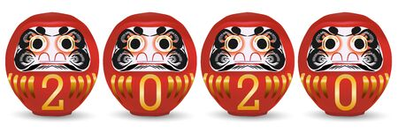 mouse New year's card Daruma icon