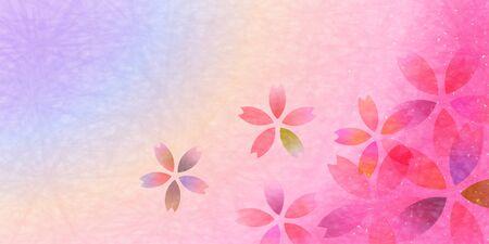 Cherry blossom spring Flower background 向量圖像