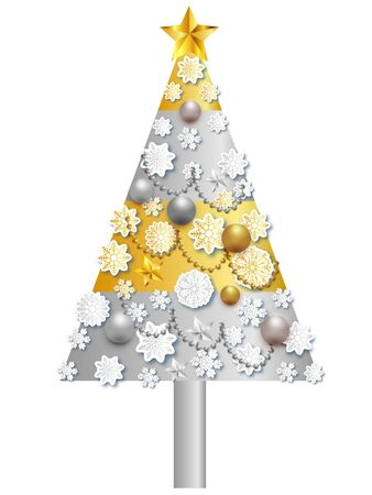 Snow Christmas tree winter icon