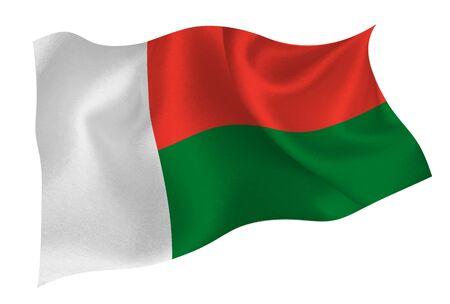 Madagascar national flag icon