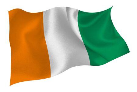 Icône du drapeau national de la Côte d'Ivoire