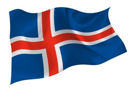 Iceland national flag icon