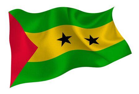 Sao Tome and Principe national flag icon Ilustração Vetorial