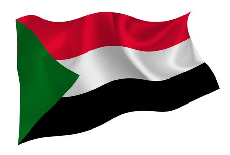 Sudan national flag icon Vector Illustratie