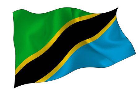 Tanzania national flag icon