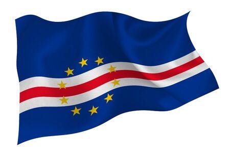 Cape Verde national flag icon