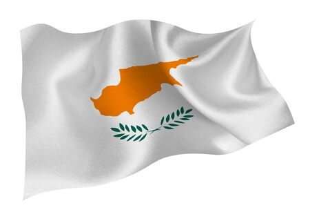 Cyprus national flag icon Ilustracja