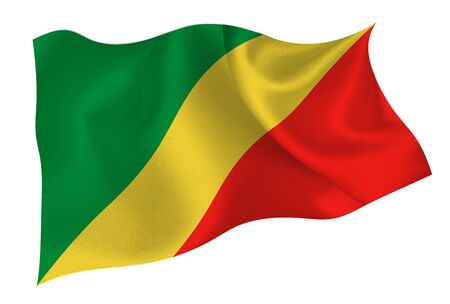 Congo national flag icon Vetores