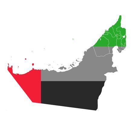 United Arab Emirates National flag map icon