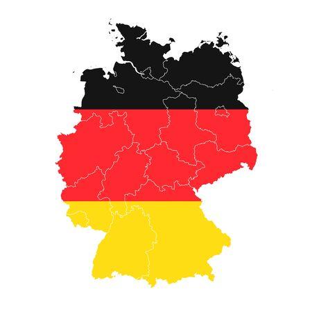 Icono de mapa de la bandera nacional de Alemania